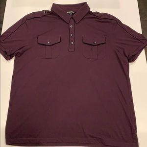 Express Polo shirt with shoulder tabs & pocket L